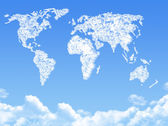 World map on Cloud shaped ,dream concept — Stock Photo