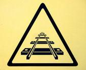 Demiryolu geçidi trafik işaretleri — Stok fotoğraf