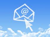 Mail cloud shape — Stock Photo