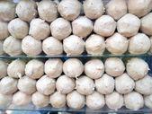 Meat ball and pork ball .Thai street food  — Stock Photo