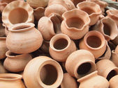Thailand Clay Jar — Stock Photo