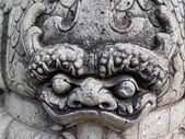 Close up Chinese stone statue in Wat Pho, Bangkok, Thailand — Stock Photo