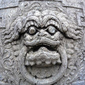 Close up Chinese stone statue in Wat Pho, Bangkok, Thailand — 图库照片