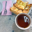 Tea and toast — 图库照片