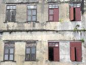 Alte holzfenster der alten thai-haus-styl — Stockfoto