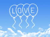 Cloud shaped as Love Message — 图库照片