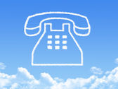 Phone cloud shape — Stock Photo
