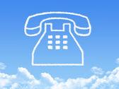 Phone cloud shape — Stock Photo