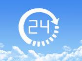 Clock cloud shape — 图库照片