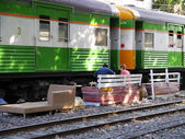 BANGKOK, THAILAND - MARCH 3: People waiting for a train on March 3, 2012 in Bangkok, Thailand.  — Stock Photo