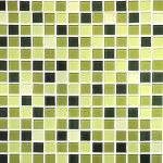 Green seamless mosaic tiles background — Stock Photo #44011445