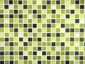 Green seamless mosaic tiles background — Stock Photo