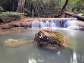 Waterfall in Erawan national park, Kanchanaburi ,Thailand — Stock Photo