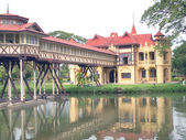 Beautiful building in Sanamchan Palace at Nakhon Pathom province — Stock Photo