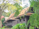 Thai style, Teakwood home in garden, Thailand — Stock Photo
