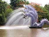 Great Naga spewed water — Stock Photo