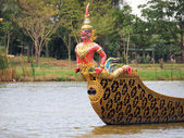 Thai royal barge, supreme art of Thailand  — Stock Photo