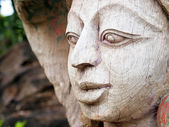 Wood Carving Art at The ancient City, Thailand. — Stock Photo