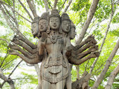 Wood Carving Art at The ancient City, Thailand. — 图库照片