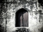 Ancient window and wall of temple,Thailand  — Zdjęcie stockowe