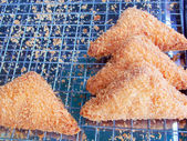 Pile of bread fritter — Stock Photo