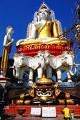 BANGKOK,THAILAND - DECEMBER 2007: Old Buddha statue in Wat Khunjani ,30 December 2007 at Bangkok,Thailand.  — Stock Photo