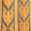 Gold textured door Thai style in ancient buddhist temple — Stock Photo #49478513