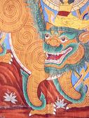 バンコク - タイ - 10 月 12 日: 2013 年 10 月 12 日 [ワットポー、バンコク、タイの寺院の壁に絵画. — ストック写真