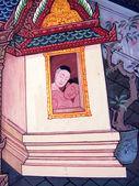Bangkok - Thailand - Oktober 06: eine Szene aus dem Ramakian im Wat Phra Kaeo, Bangkok, Thailand am 6. Oktober 2013. Das Ramakian ist Thailands Nationalepos, abgeleitet von der hinduistischen Epos Ramayana. — Stockfoto