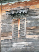 Old wooden house door, Thailand traditional style  — 图库照片