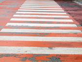 Zebra traffic walk way in the city  — Stock Photo