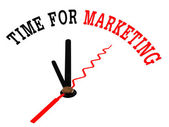 Time for marketing concept clock — Stock Photo