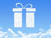 Gift box concept cloud shape — Stock Photo