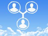 Użytkowników w chmurze kształt — Zdjęcie stockowe