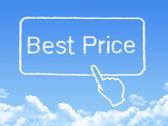 Best Price message cloud shape — Stock Photo