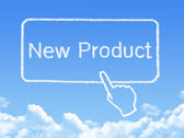 New Product message cloud shape — Stock Photo