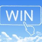 Win message cloud shape — Stock Photo #51607797