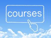 Courses message cloud shape — 图库照片