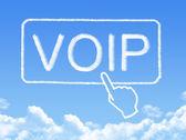 VOIP message cloud shape — Stock Photo