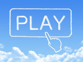 Play message cloud shape — Stockfoto