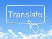Translate message cloud shape — Stock Photo
