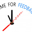 Time for feedback with clock concept — Stock Photo #51619059
