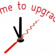 Time to upgrade with clock concept — Stock Photo #51619607