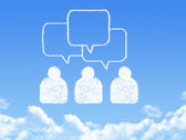 Speech bubbles cloud shape — Stockfoto