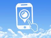 Phone cloud shape — Stockfoto