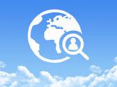 People search cloud shape — Stock Photo