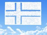 Norway flag cloud shape — Stock Photo