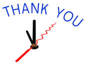 Thank you with clock concept — Stock Photo
