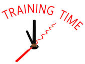 Training Time with clock concept — Stock Photo