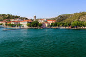 National Park Krka, River Krka, Town of Skradin, Croatia — Stock Photo